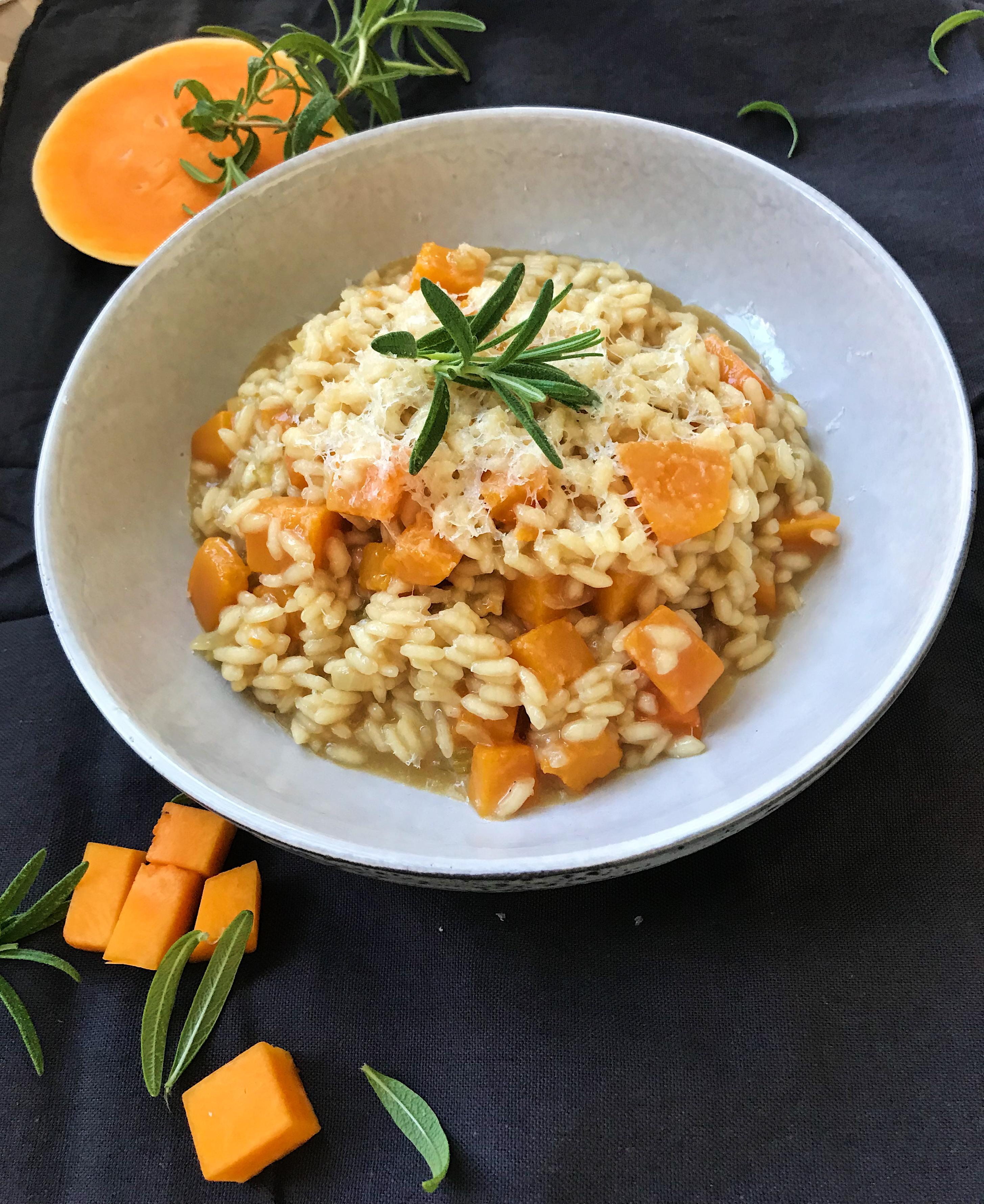 Butternut risotto med rosmarin