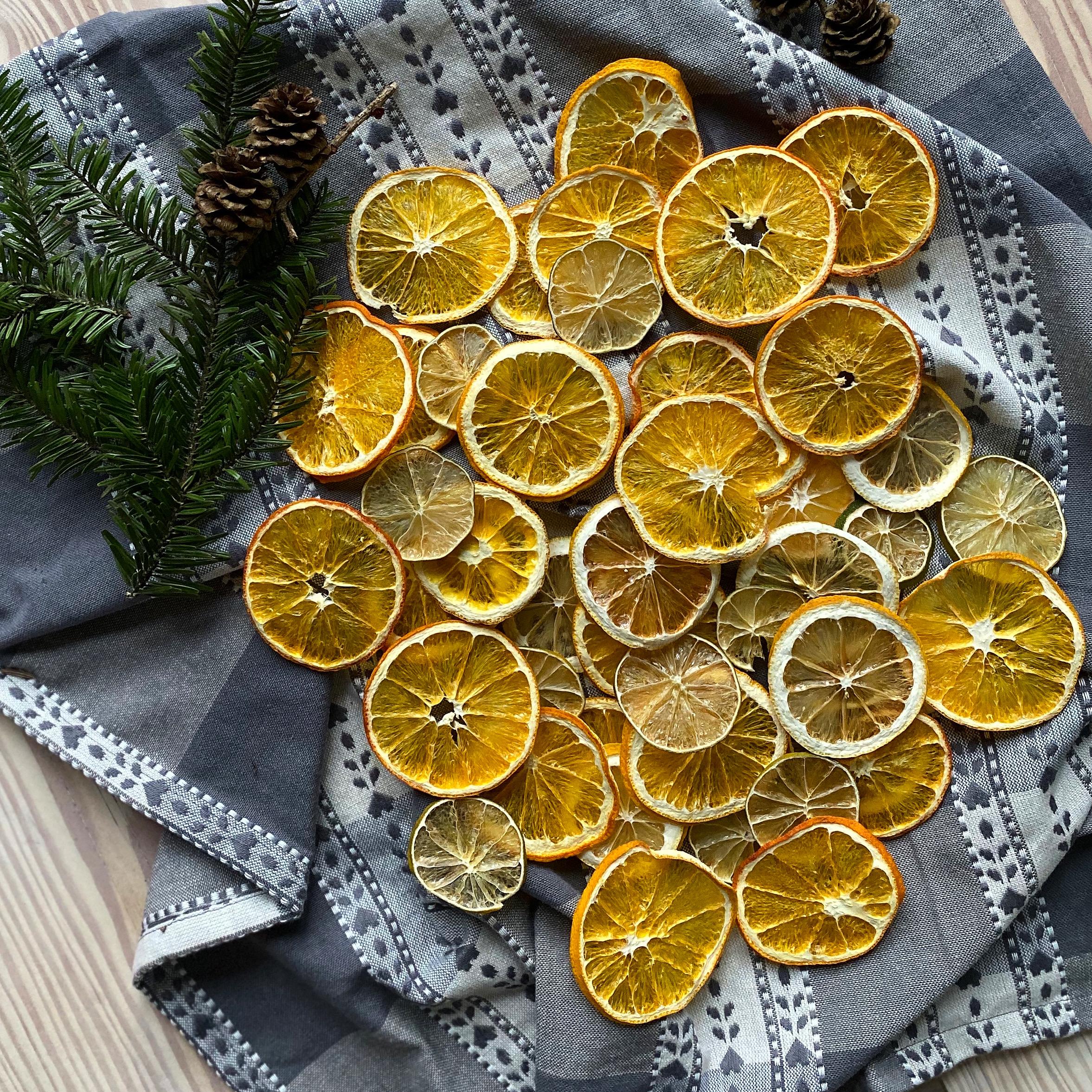 Tørrede citrusfrugter